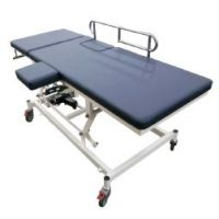 Robust-2-section-examination-echo-couch-with-electric-powered-adjustable-backrest-and-high-low-functions.