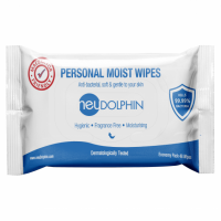 neuDolphin-personal-moist-wipes-sanitize-and-kill-bacteria-without-the-use-of-alcohol,-it-contains-aloe-vera-and-vitamin-E-extracts-to-keep-your-skin-moisturized-and-soft.